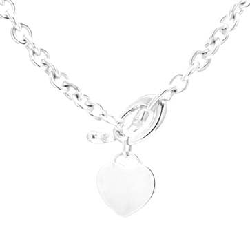 Ladies Heart Charm Necklace