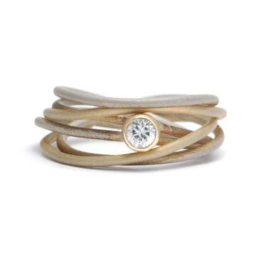 Ladies Wire Wrapped Diamond Ring Facets by Susong