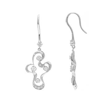 Abstract Diamond Earrings
