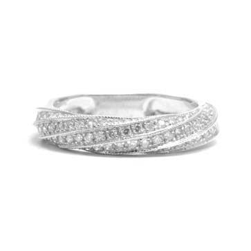 Ladies Twisted Pave Ring