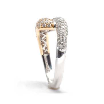 Ladies Two-Toned Pave Ring