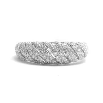 Ladies Domed Pave Ring