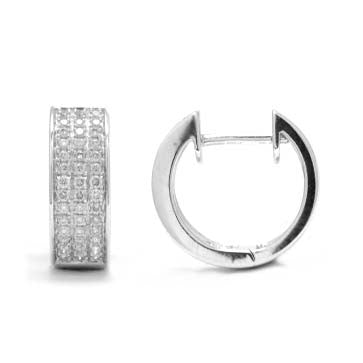 Ladies Diamond Hoop Earrings