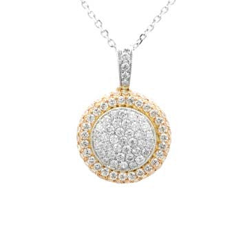 Ladies Two-Toned Pave Pendant