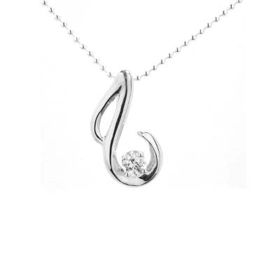 Ladies Diamond Swirl Pendant