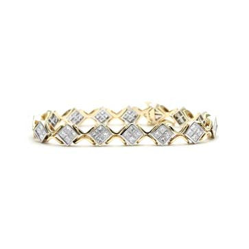 Ladies Princess Cut Diamond Bracelet