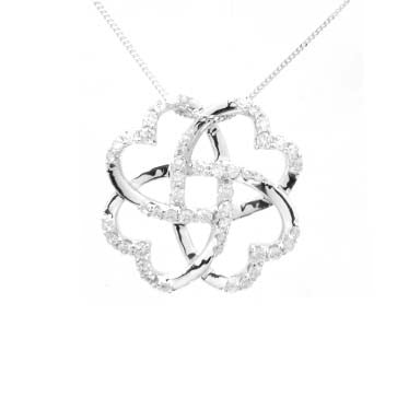 Ladies Diamond Clover Pendant