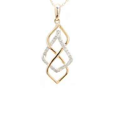 Ladies Spiral Diamond Pendant