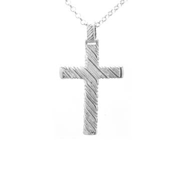 Silver Striped Cross