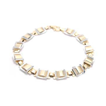 Ladies Two-Tone Square Bracelet