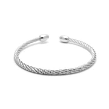 Mens Steel Cable Bracelet