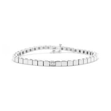 Ladies Square Diamond Bracelet