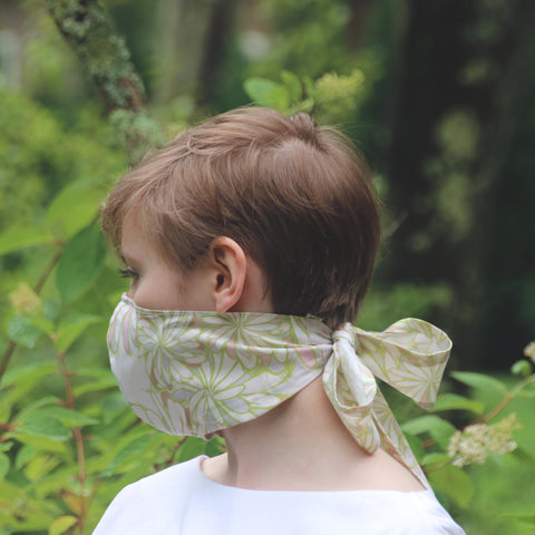 Face mask, silk and cotton blend, 3 layers of fabric