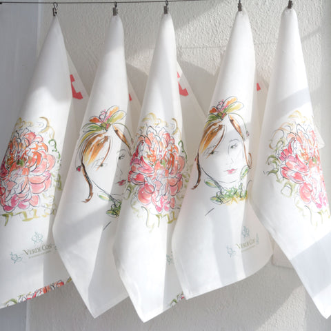 Strawberry Bride Tea Towel