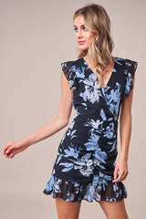 Emilie Ruched Floral Dress