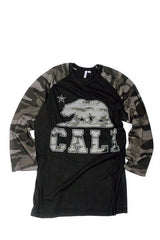 Culture Camo Cali Bear Raglan