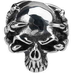 INOX Sovereign Steel Skull/Claw Ring Size 14