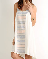 Ivory Pastel Aztec Center Dress