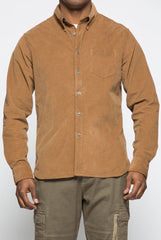 Brown Corduroy Button-up