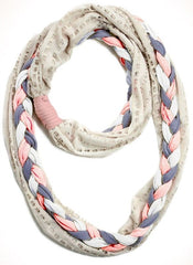 OP Gray Braided Infinity Scarf