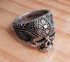 Large Filigree Skull Ring