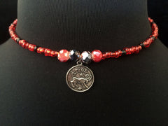 Red Aries Choker
