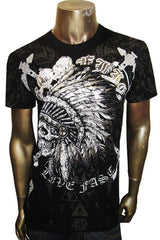 Metallic Chief Skull Tee