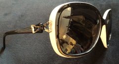 Ego Crystal Detail Black White Polarized Sunglasses