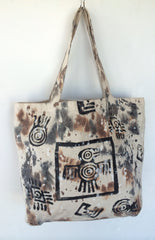 Tribal Bird Hand-Paint Bag