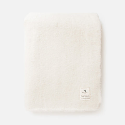Sabana Wool Throw - White - Someware