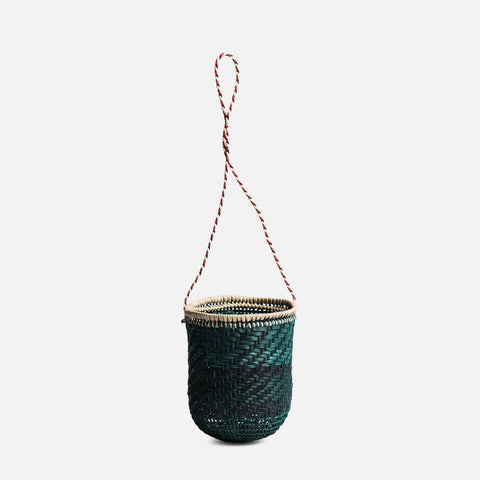 Woven cup with strap (front view)