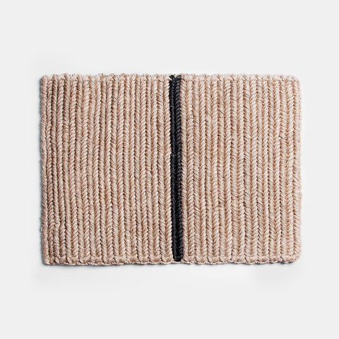 Braided Doormat - Black Stripe - Someware