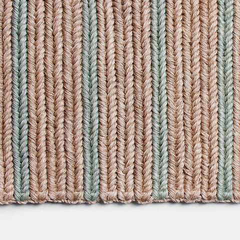 Someware Braided Doormat - Seafoam Stripe