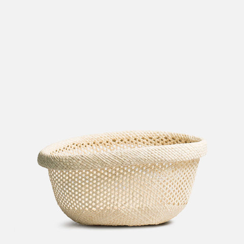 Woven oval waste basket (Front view)