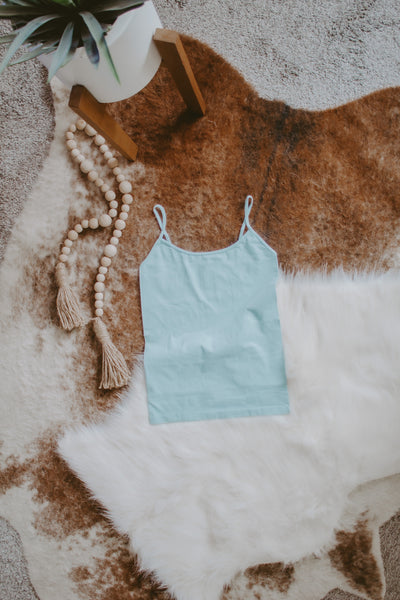 STRAPPY CAMI | LIGHT BLUE
