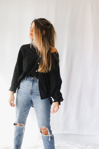 JALISSA OVERSIZED BUTTON DOWN