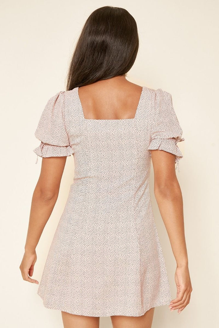 BE MY BABY BUTTON DOWN MINI DRESS