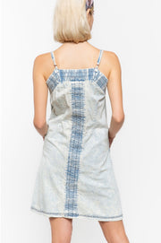 BUTTON FRONT DENIM DRESS