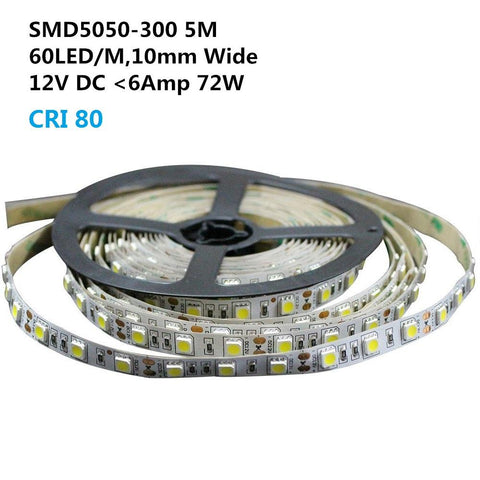 Image of DC 12V 10mm Width Dimmable SMD5050-300 Flexible LED Strip Lights