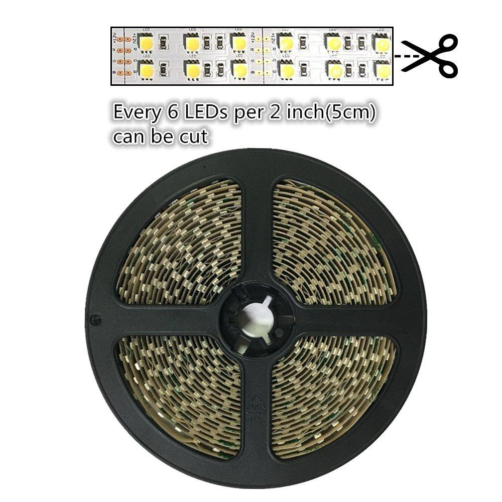 DC 12V 15mm Width Dimmable SMD5050-600 Double Row Flexible LED Strips