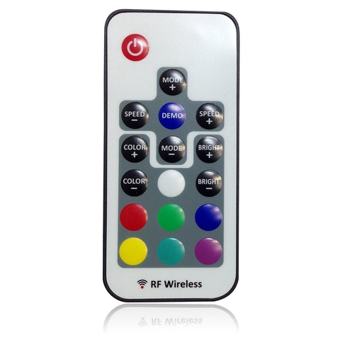 DC5-24V 12A RGB LED Dimmer Controller with Mini RF Remote Controller