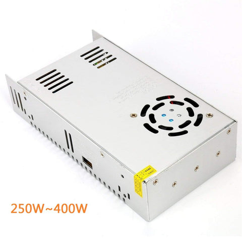 Image of Heavy Duty Industrial Series Metal House Screw Terminal Adapter 110-220V AC to 12V/24V/5V DC