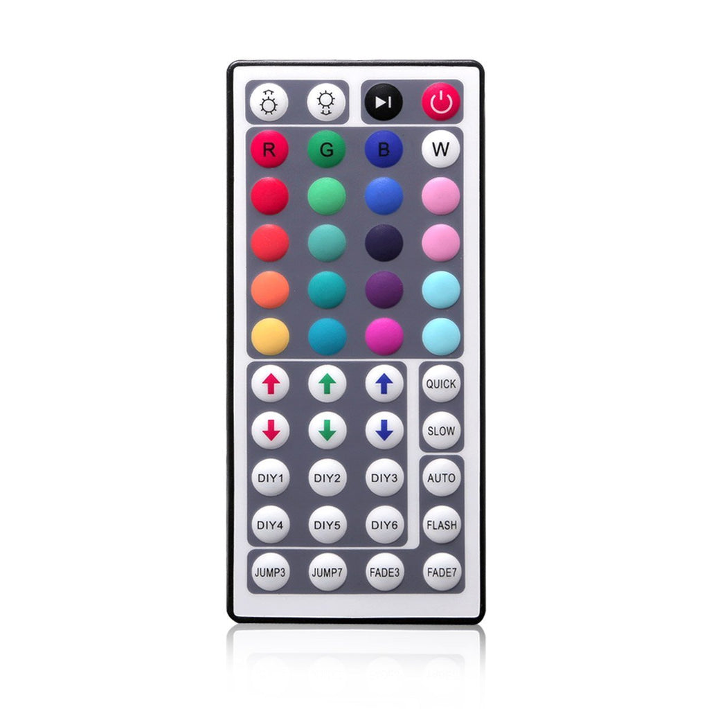 44Key IR Remote Controller for RGB LED Strip Lights 4-pin DC12V-24V LED Strip Controller