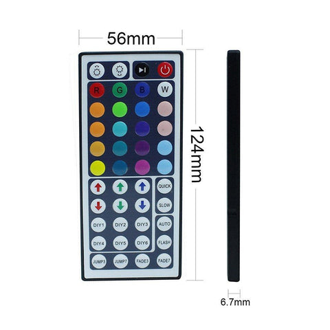 Image of 44Key IR Remote Controller for RGB LED Strip Lights 4-pin DC12V-24V LED Strip Controller