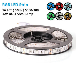 10mm Width SMD5050-300 RGB Color Changing Flexible LED Strip Lights