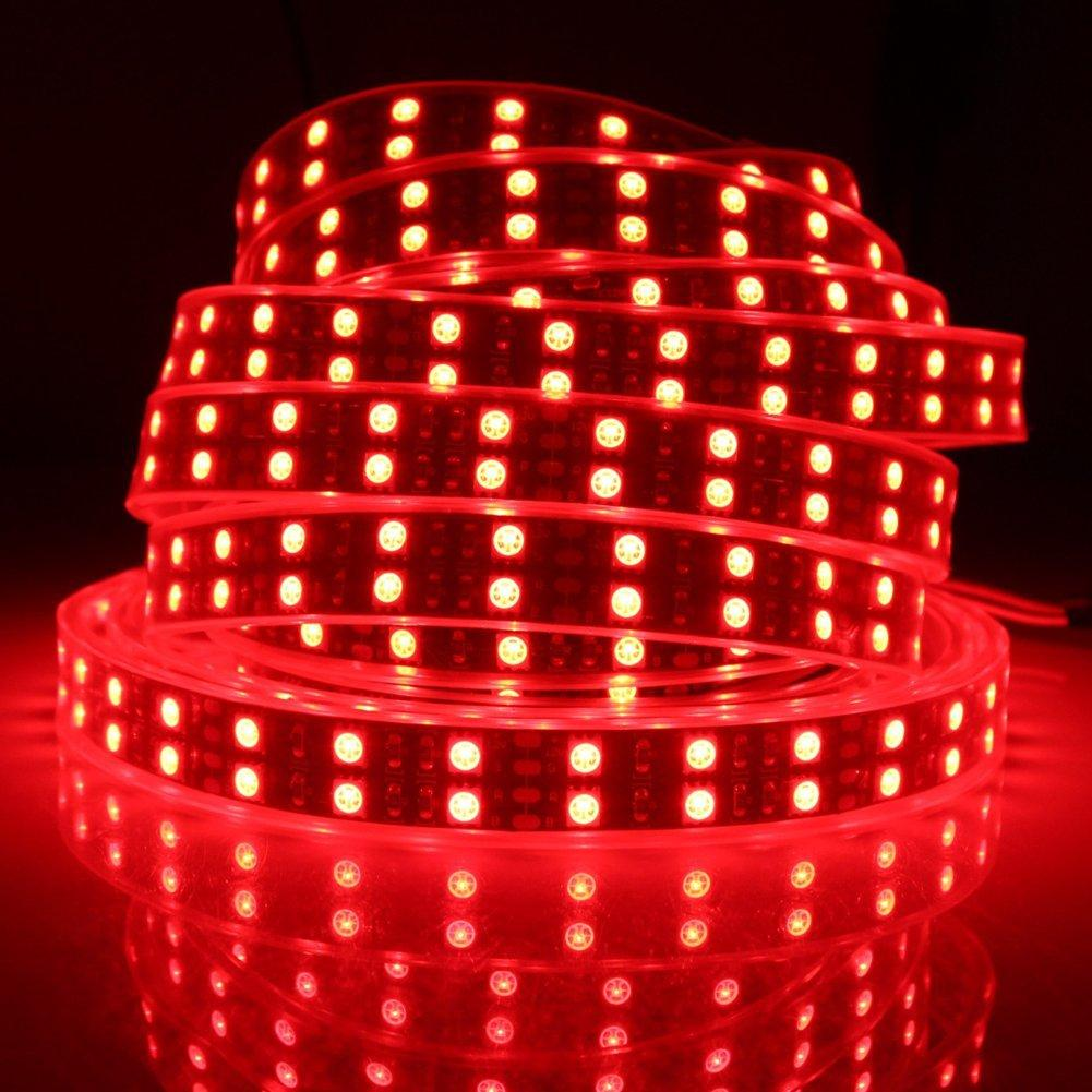 12V Double Row 15mm Width SMD5050-600 RGB Flexi LED Strips 120 LEDs Per Meter