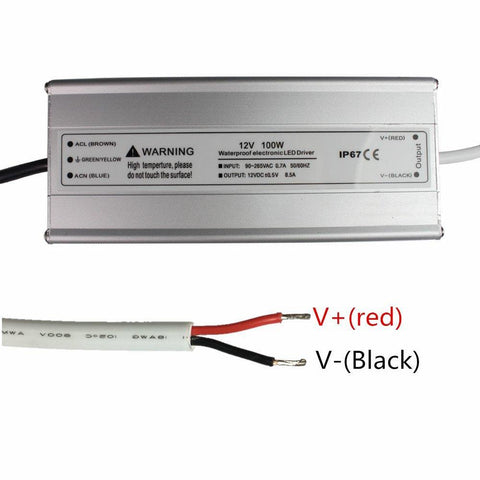 Waterproof IP67 110V AC to 12V DC LED Power Supply Driver Transformer