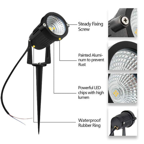 Image of 8W 12V-24V SMD3030 Waterproof  Garden LED Pathway Spotlights