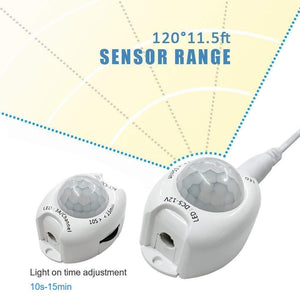 6FT Motion Sensor Bedside LED Tape Light Kit with Automatic Shut Off Timer
