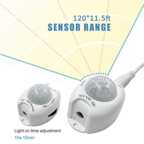 Image of 6FT Motion Sensor Bedside LED Tape Light Kit with Automatic Shut Off Timer